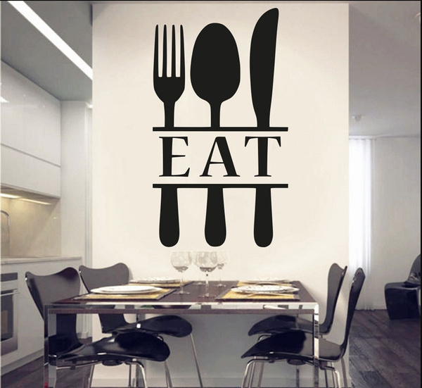 Kitchen Decals Spoon Fork Wall Decor