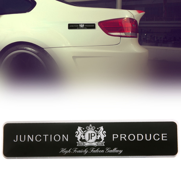 Aluminium Jp Junction Produce Car Body Trunk Emblem Badge Decal Sticker