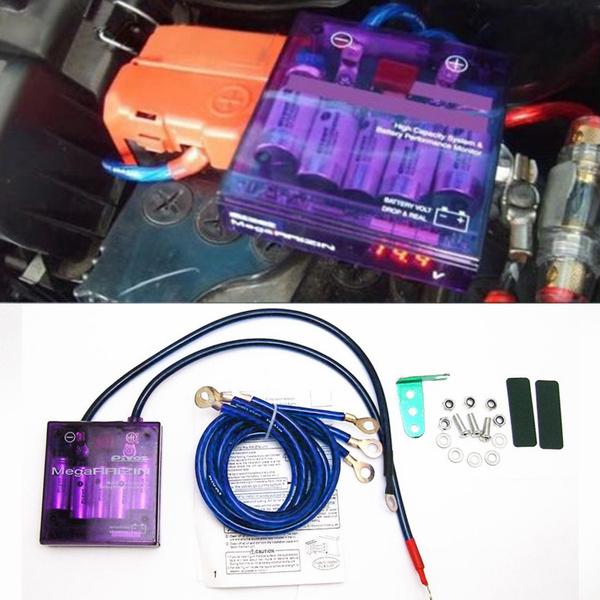 Purple PIVOT MEGA RAIZIN Universal Car Fuel Saver Voltage Stabilizer Regulator