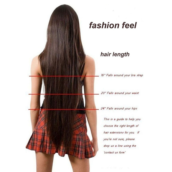 Wish Real Hair Straight Brazilian Hair 5 Clip In Hair Extensions