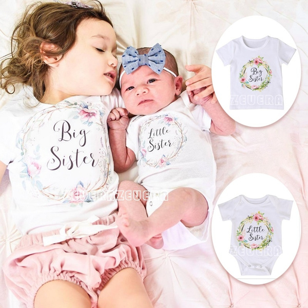 Sisters Cotton Baby Clothes Girl Little Big Sister Match Cloth Jumpsuit Romper by Wish