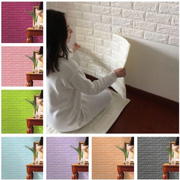 3d Brick Pattern Wallpaper Bedroom Living Room Modern Wall Background Tv Decor Wallpaper Size 60 30 Cm