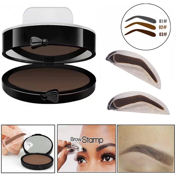 Wish Professional Eyebrows Kit Pigments Black Brown Brows Mineral