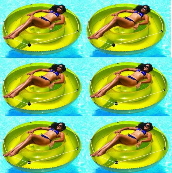 Strange Swimline 9050 72 Swimming Pool Sun Tan Lounger Island Float Inflatables 6 Pack Ocoug Best Dining Table And Chair Ideas Images Ocougorg