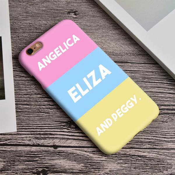 new arrival f69f9 9b84b The Schuyler Sisters Hamilton Prints iPhone Case For iPhone 5 5S SE 6 6S 6  Plus 6S Plus 7 7 Plus 3D Wrap Case