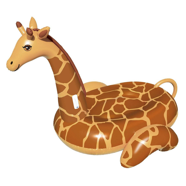 Brown Swimline 90710 April The Giraffe Inflatable PVC Giant Ride On Pool Float