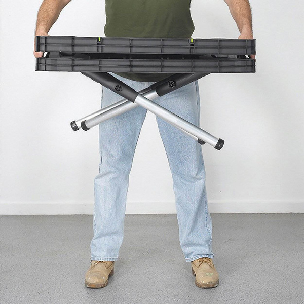 Awesome Wish | Keter Compact Portable Folding Garage Workbench Work Table With  Clamps, Green
