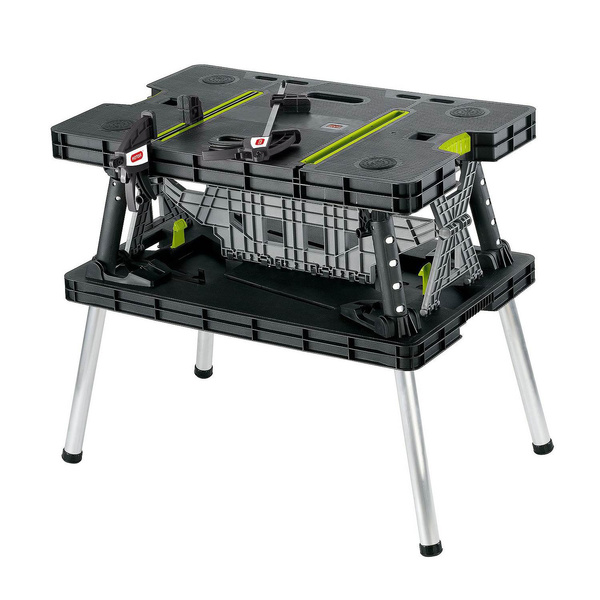 Tremendous Keter Compact Portable Folding Garage Workbench Work Table With Clamps Green Frankydiablos Diy Chair Ideas Frankydiabloscom