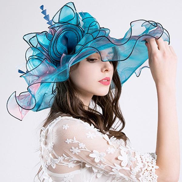 b4598317b0367 Elegant Fashion Women s Church Hats for Women Flower Hat Summer ...