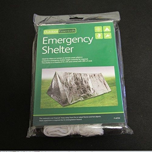 Emergency Survival Mylar Thermal Reflective Cold Weather Shelter Tube Tent