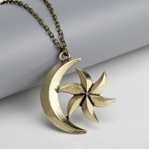 The Elder Scrolls V Game Jewelry Moon Star Necklaces Skyrim Dinosaur  Pendant Necklace