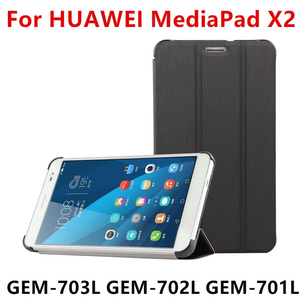 brand new b3690 5c86d Case PU For Huawei MediaPad X2 Protective Smart cover Leather Tablet For  HUAWEI Honor X2 GEM-703L GEM-702L GEM-701L Protector