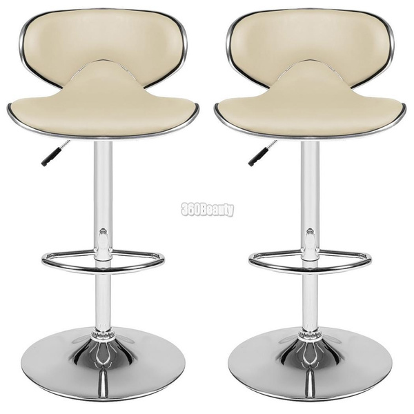 Stupendous 1Pair Faux Leather Kitchen Breakfast Bar Stool Chrome Base Adjustable Lift Swivel Chair Pdpeps Interior Chair Design Pdpepsorg