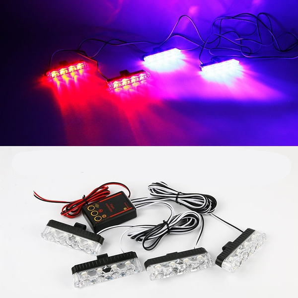 DC 12V Strobe Warning light LED flash light Ambulance Police light Car  Truck Light Flashing Firemen Lights Red/Blue/Yellow/White
