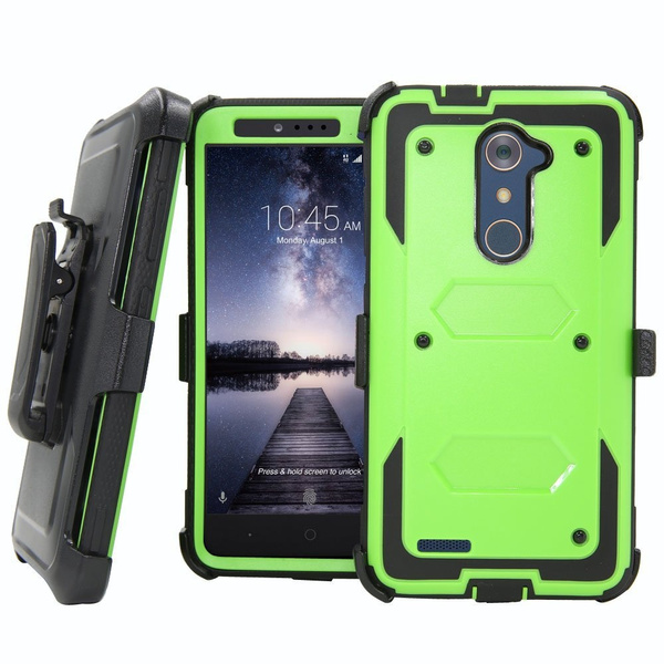 low priced 92e87 a9387 For ZTE Max XL N9560/ZTE Zmax Pro Z981/ZTE X MAX 2 Case ZTE Z988 / ZTE Z  Max Pro / ZTE Blade X Max Shockproof Hybrid Case Stand Cover with Belt Clip  ...