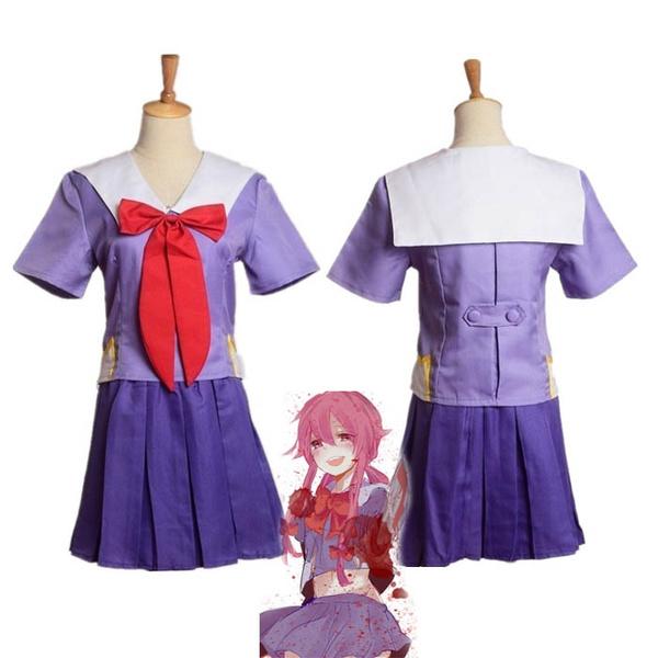 New Future Diary Mirai Nikki Yuno Gasai School Uniform Cosplay Costume