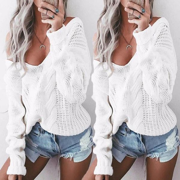 Fashion, Tops & Blouses, Necks, Long Sleeve