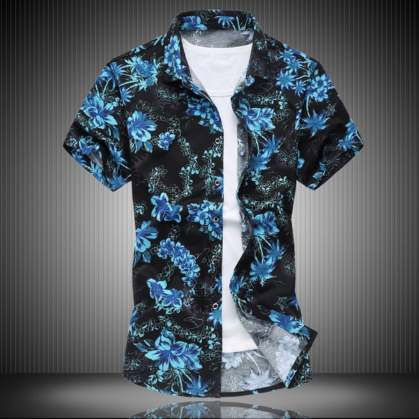 shortshirt, Plus Size, Shirt, Hawaiian