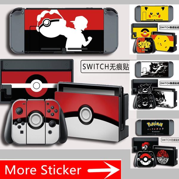 Skin Deca Pikachu Pokemon Wrap Skin Cover For Nintendo Switch Console Joy Con Switch Dock Joy Con Grip