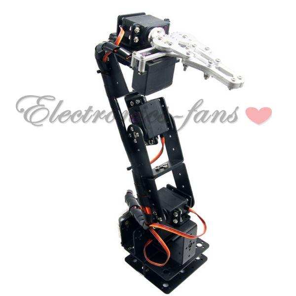 Aluminium Robot 6DOF Arm Clamp Claw Mount Mechanical Robotic Arm