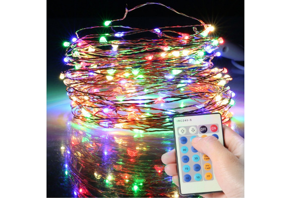 100 LED String Lights Dimmable with Remote Control, TaoTronics Waterproof Decorative Lights for Bedroom, Patio, Garden, Gate, Yard, Parties, Wedding
