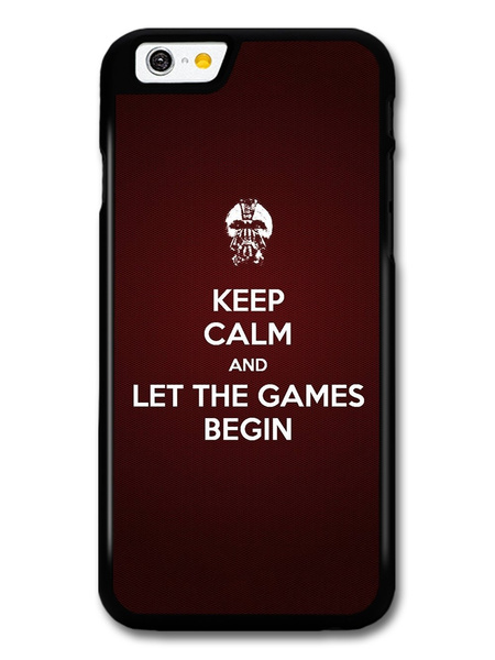 Wish Keep Calm Let The Games Begin Hunger Games Quote Skin Case