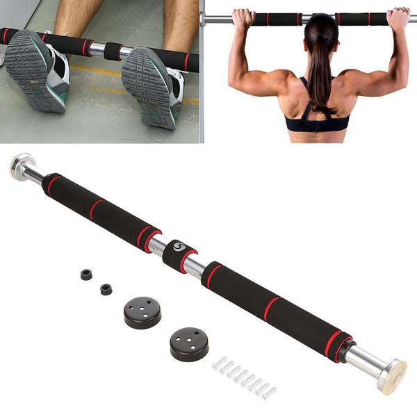 New Unisex Chin-ups Push-ups Sit-ups Dips Deluxe Doorway Pull-Up Bar with  Comfort Grips