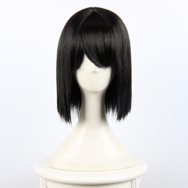 Your Name Miyamizu Mitsuha Black Straight Hair Kimi No Na Wa Anime Cosplay Wigs