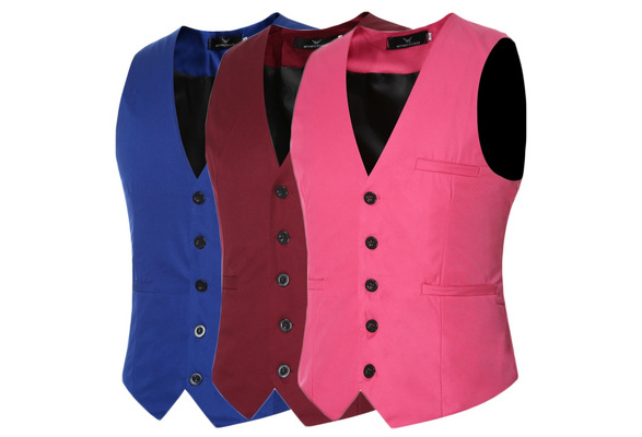 2018 New Fashion Summer and Autumn Men's Cotton Slim Fit Vest Men's Wedding Vest Men Suit Vest Pocket Decoration Gentlemen Business Casual Vest
