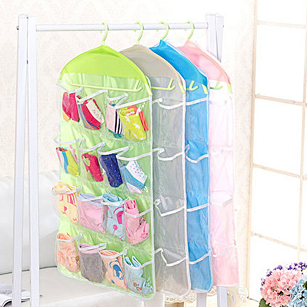 Wish | 16/20/24 Pockets Shoes Storage Over Door Hanging Shoe Rack Hanger  Organizer (Suitable For Ladies)