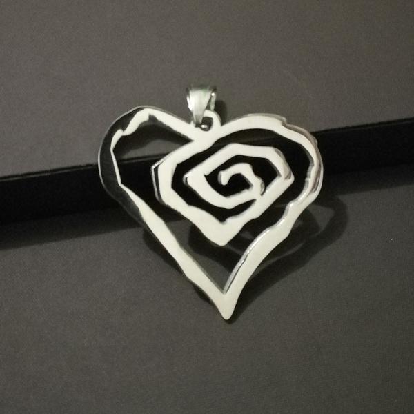 Marilyn Manson Necklace Pendant Stainless Steel Logo Symbol