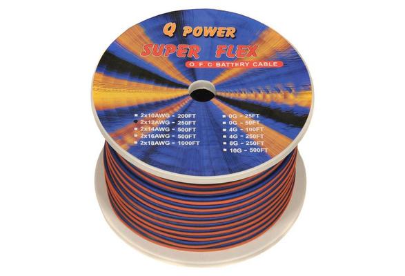 NEW Q-POWER 12G250 12-Gauge Ga 250 Spool High Performance Car//Home Speaker Wire