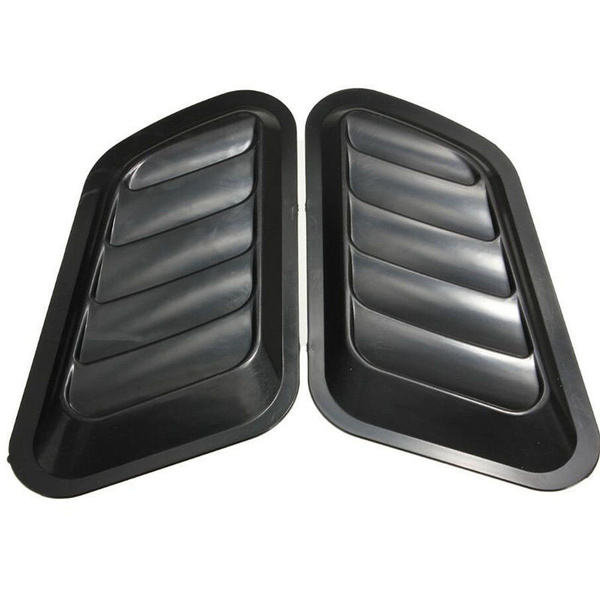 2Pcs Car Hood Fender Decorative Air Flow Intake Scoop Bonnet Vent Cover Sticker