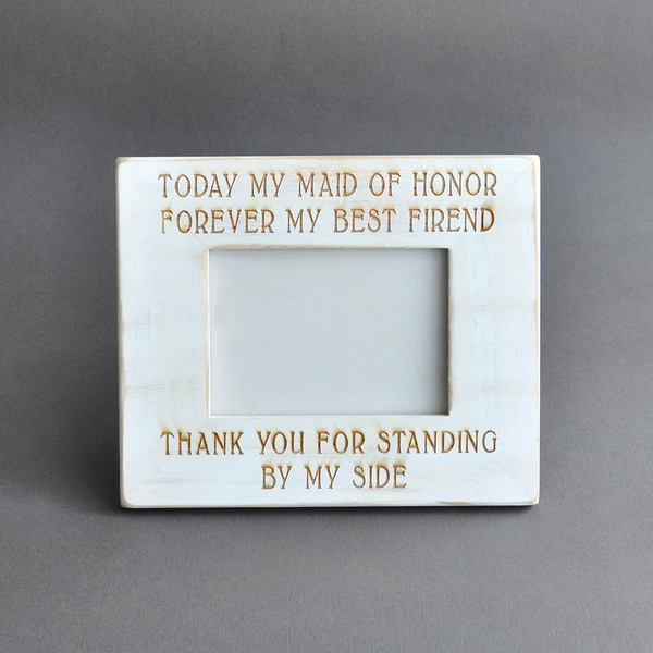 Wish Maid Of Honor Picture Frame Gift Picture Frame Bridal Party