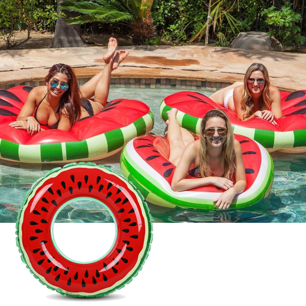 New Kids Adults Swimming Pool Beach Inflatable Safety Watermelon Swimming Ring