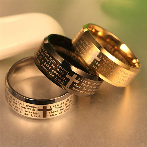 Couple Rings, Steel, louboutinfirstchristianchurch, wedding ring