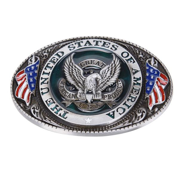 Western style New USA American flag eagle metal alloy fashion Men Belt.Buckle*~*