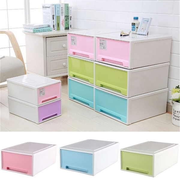 Jackyxue Online Plastic Storage Cabinet Children Toy Storage Box Drawer  Locker Shoes Sorting Box Stackable Sundries Cabinet Clothes Storege  Organizer