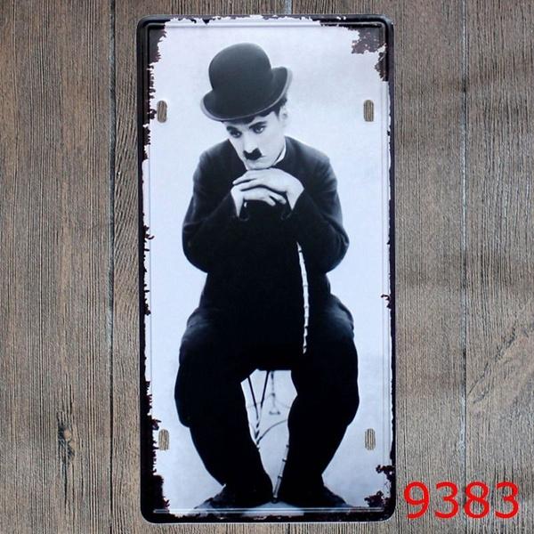 Metal Tin Sign chaplin Decor Bar Pub Home Vintage Retro Poster Cafe ART