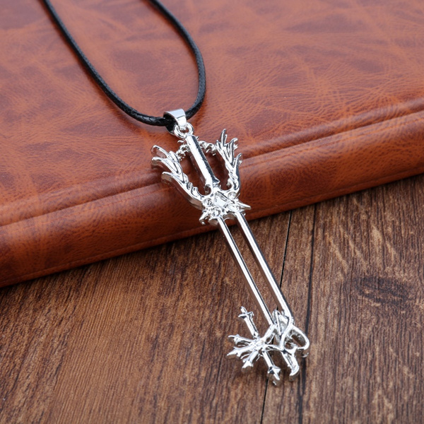 Wish kingdom hearts necklace keyblade key sora riku kair roxas wish kingdom hearts necklace keyblade key sora riku kair roxas logo silver color pendant fashion game jewelry aloadofball Gallery