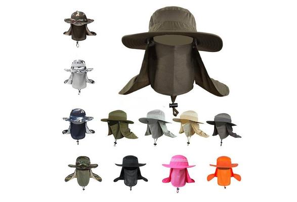 2687b4a5 New Sunscreen Fishing Suns Anti UV Protection Face Neck Flap Sun  CapHeadband Sun Rain Hat Cap Fishing Hiking | Geek