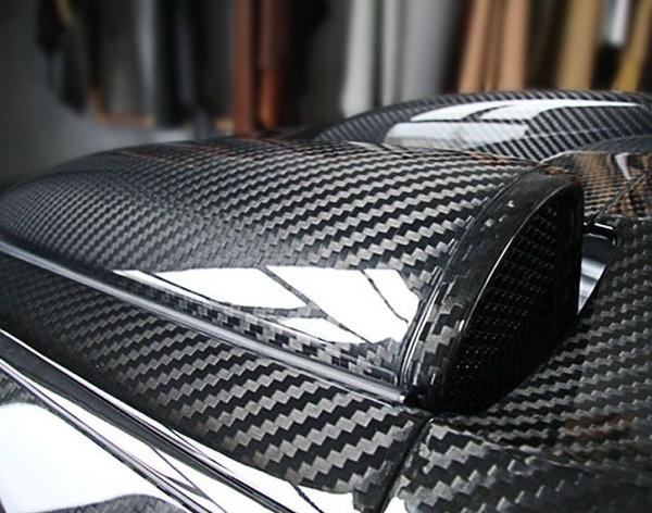 3D 4D 5D 6D Glossy Carbon Fiber Wrap Vinyl Decal Film Sticker Air Release
