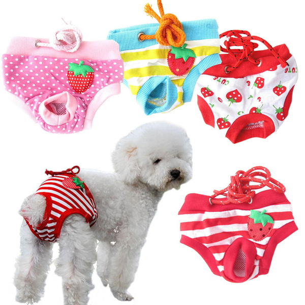 Female Dog Puppy Pet Diaper Pants Physiological Sanitary Panty Underwear Shorts