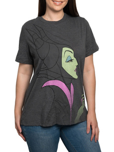 Gray, T Shirts, Plus Size, maleficent