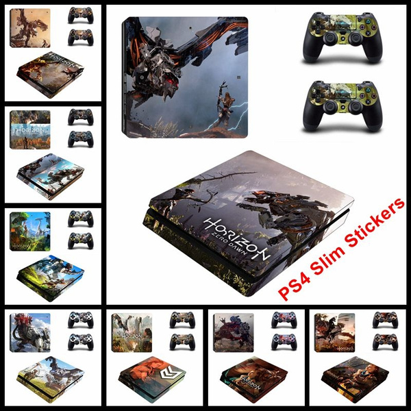 Game Horizon Zero Dawn Vinyl Kingdom Hearts Cover Skin Sticker For PS4 slim  Console For Playstation 4 Controllers Skin Decals