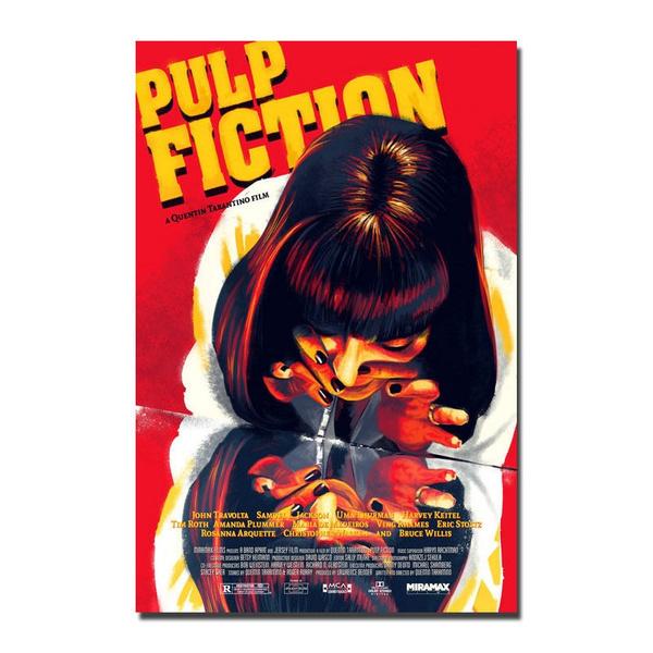 PULP FICTION Silk Fabric Movie Poster Quentin Tarantino Uma Thurman