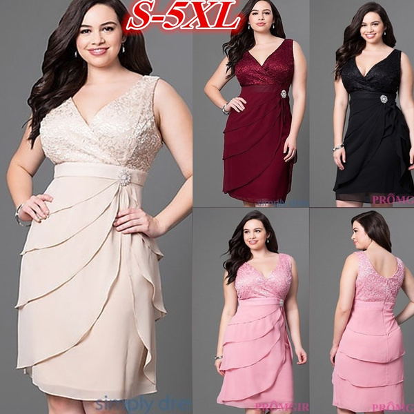 Plus Size, chiffon, wrappedchest, Dress