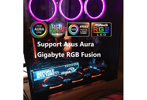 Asus Aura sync RGB Led Board Led Graphics Card Holder GTA5 H1Z1 DOTA2 CS  Decoration Multi Color Breath Flashing Mode Diy Personality Computer