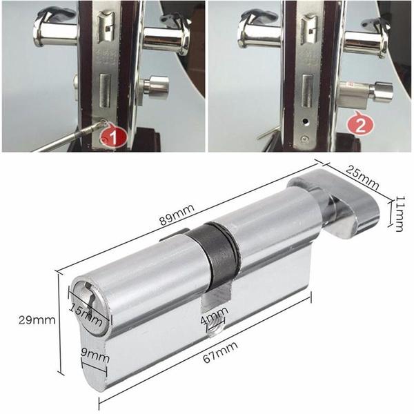 cylinder, Door, silvertone, Aluminum