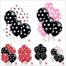 latex, airballoon, polkadotballoon, Decoración de hogar